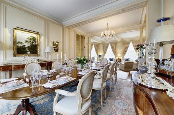 Дизайн интерьера столовой комнаты в апартаментах близ Риджентс-парка в Лондоне