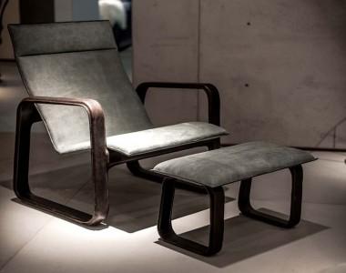 Кресло с пуфом для ног Baxter Nubi