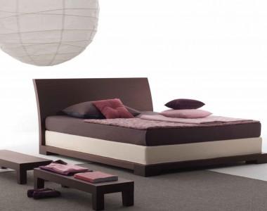 Кровать Orizzonti Andaman Cuoio
