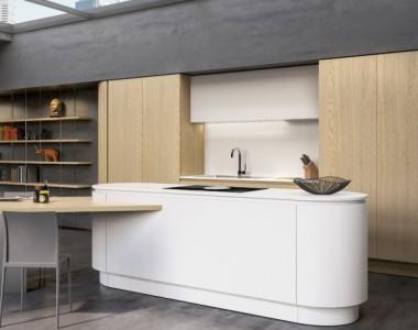 Кухня Berloni B50 Laccato Bianco Calce Opaco