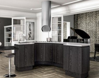 Кухня Berloni B50 Rovere Nero China Opaco