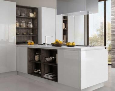 Кухня Berloni B50 Wave Bianco Ice