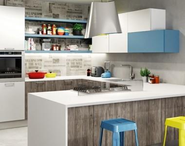 Кухня Berloni Sunny Laccato RAL 5024 lucido