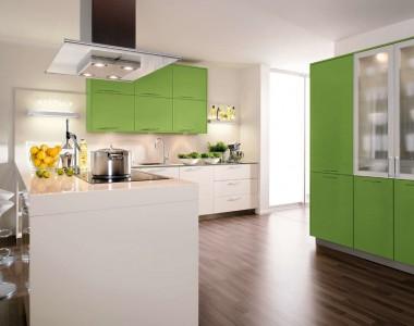 Кухонный гарнитур BEECK Küchen Colorline HGL grün/magnolie