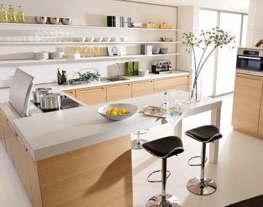 Кухонный гарнитур BEECK Kuchen Vele eiche bianco