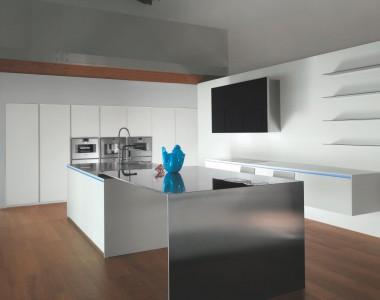 Кухонный гарнитур MK Cucine 012 Corian Inox