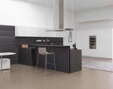 Кухонный гарнитур Modulnova Twenty bianco / rovere carbone