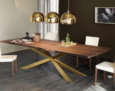 Стол Cattelan Italia Spyder Wood S Canaletto