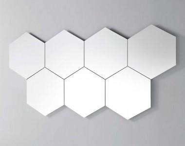 Зеркало Pianca Hexagonal Geometrika